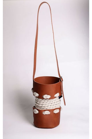 Small Cream Bucket Bag