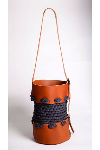 Medium Charcoal Bucket Bag