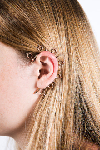 Helm of Awe Earcuff Rose Gold