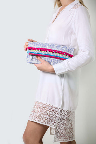 Light Blue Asmara Clutch