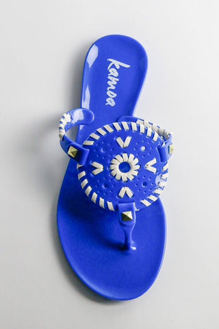 Royal Blue Amalia Sandals