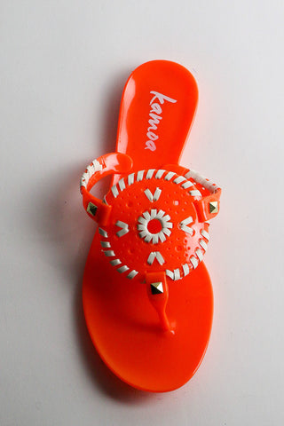 TARLEE orange and white sandals