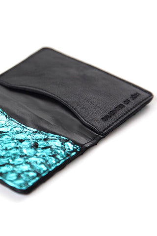 Blue Metallic Perch Card Holder