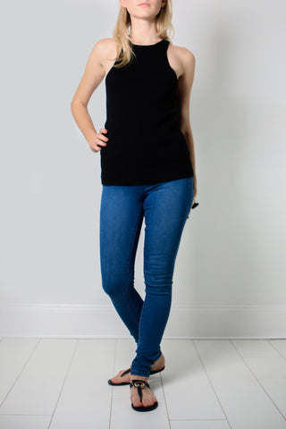 TARLEE Lily & Carter black cashmere top
