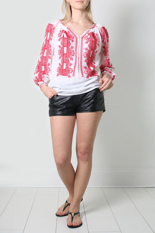 Red Poppies Blouse
