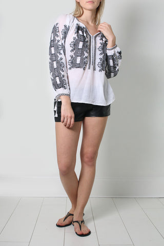 Black Poppies Blouse