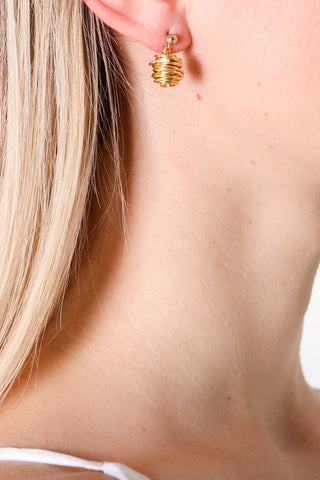 Gold Asteria Earrings