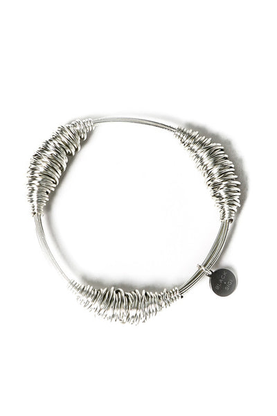 TARLEE Black Sigi made in England silver wire bangle