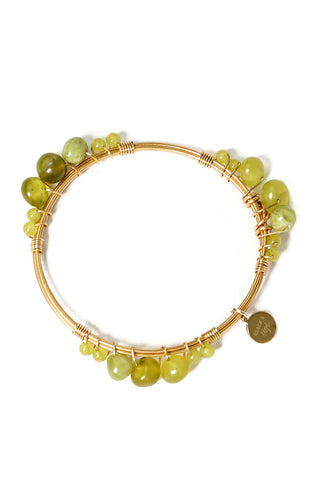 Gold Laurel Bangle