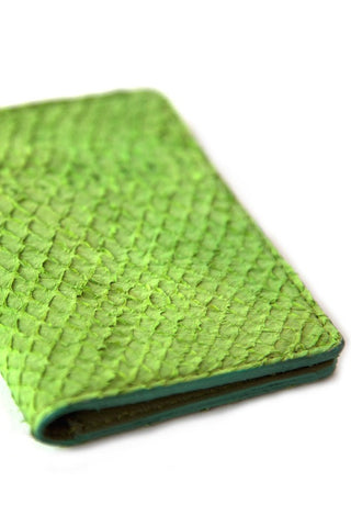 Green Salmon Card Holder