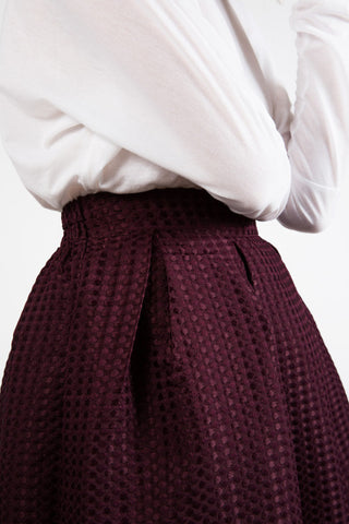 Purple High Waist Skirt
