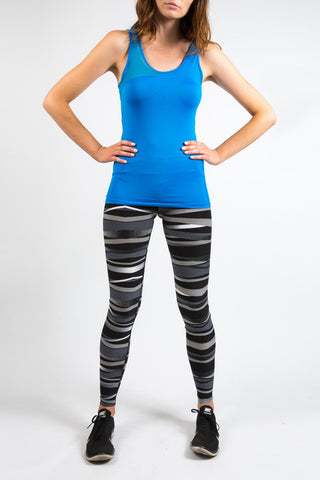 Electric Blue Fine Mesh Energy Tank