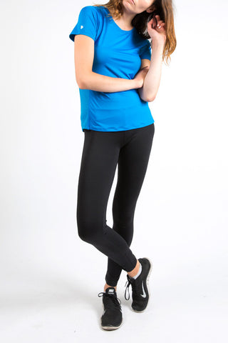 Electric Blue Cutout Back Tee