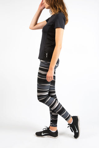 Black Graphic Fitness Leggings