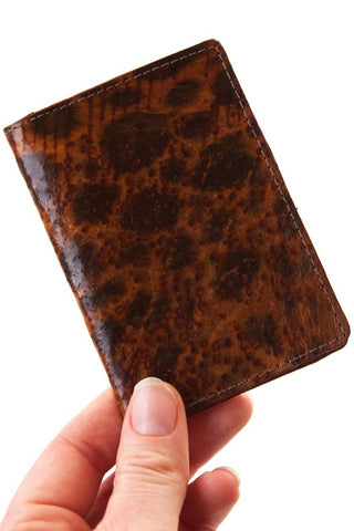 Cognac Wolffish Card Holder