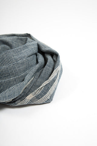 Organic Cotton Blue Scarf