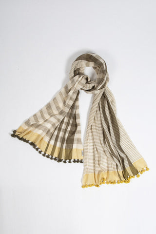 Organic Cotton Yellow Scarf
