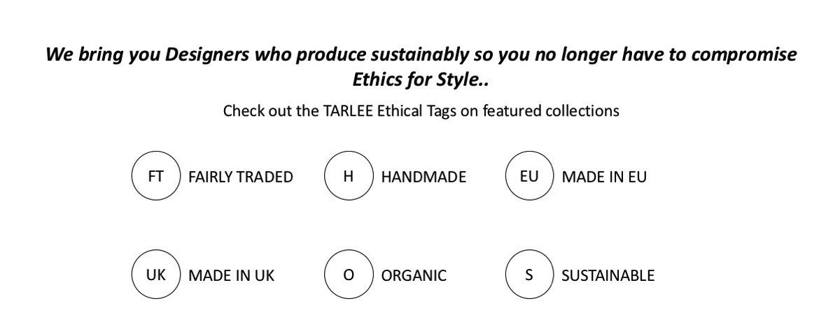TARLEE ethical fashion designers