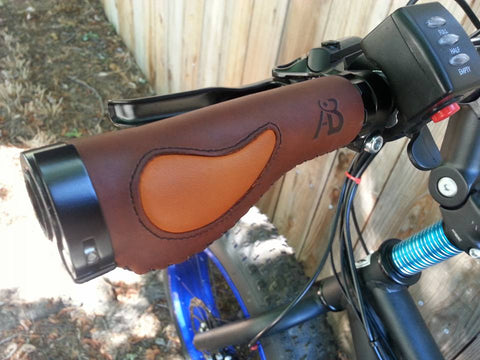 Leather Bicycle Grips