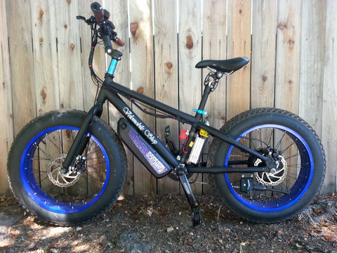"20"" Electric Fat Bike 750 watt bafang hub motor"