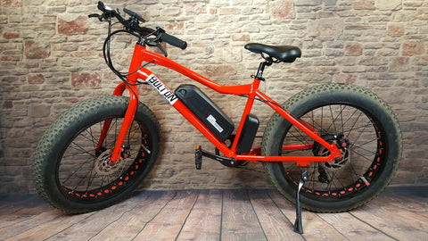 Red Bolton E-bike with battery and motor