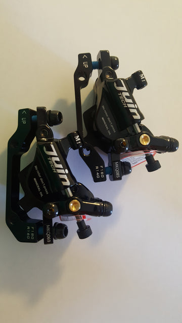 Juintech M1 hydraulic calipers - easy install on most ebikes!   Front and Rear