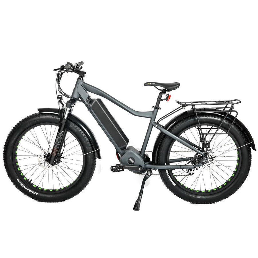 Side view Bolton Ebikes 1000w Mid Drive Grey