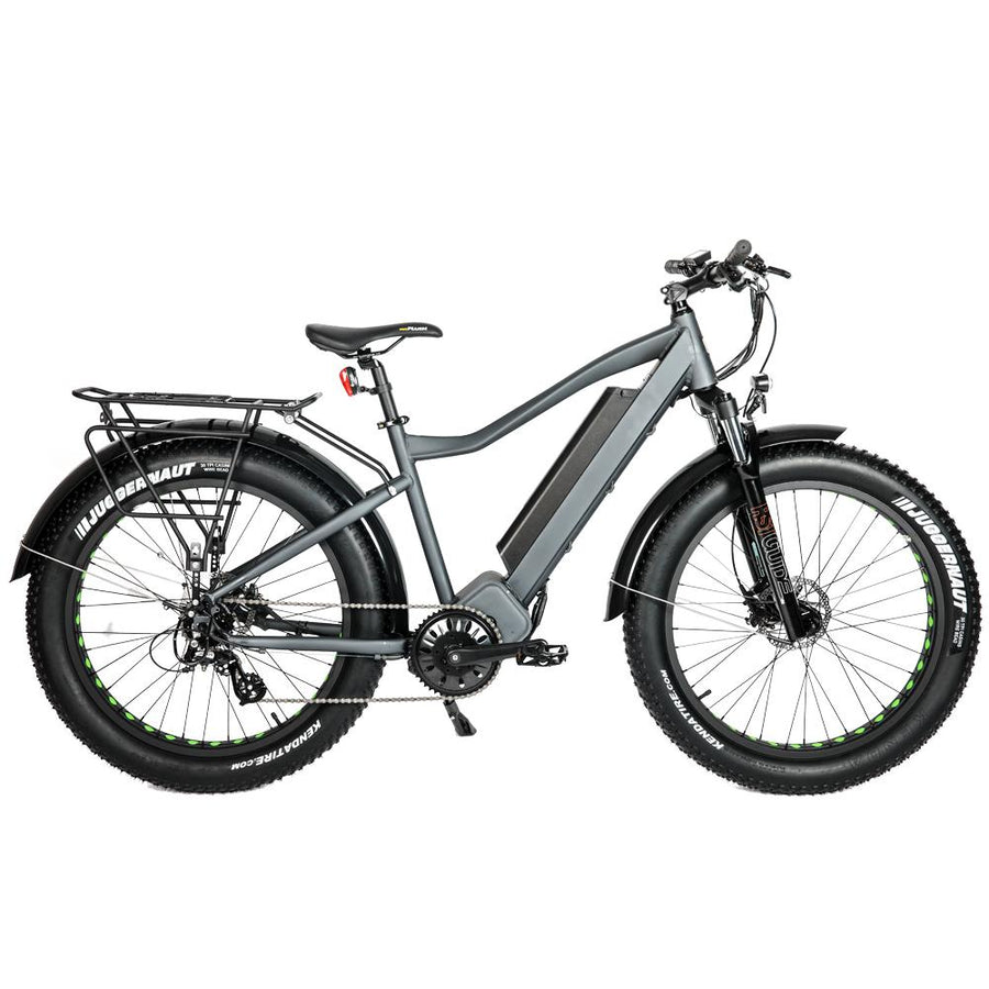Right Side View Bolton Ebikes 1000W Mid Drive Grey