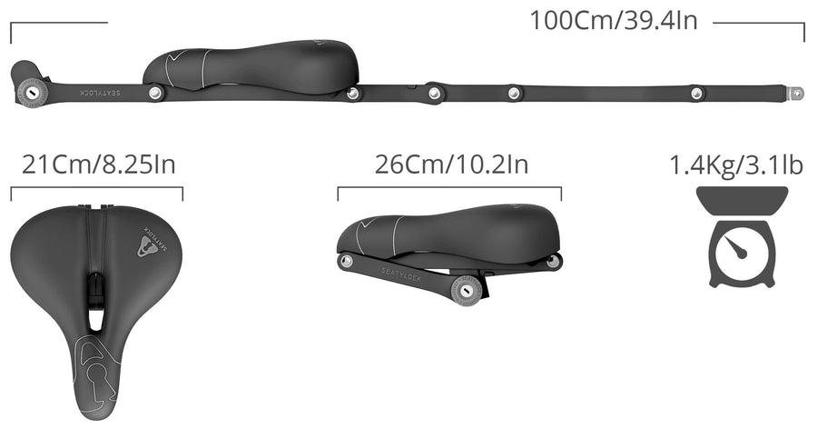 Comfort SeatyLock - A comfortable bicycle saddle and lock in one!