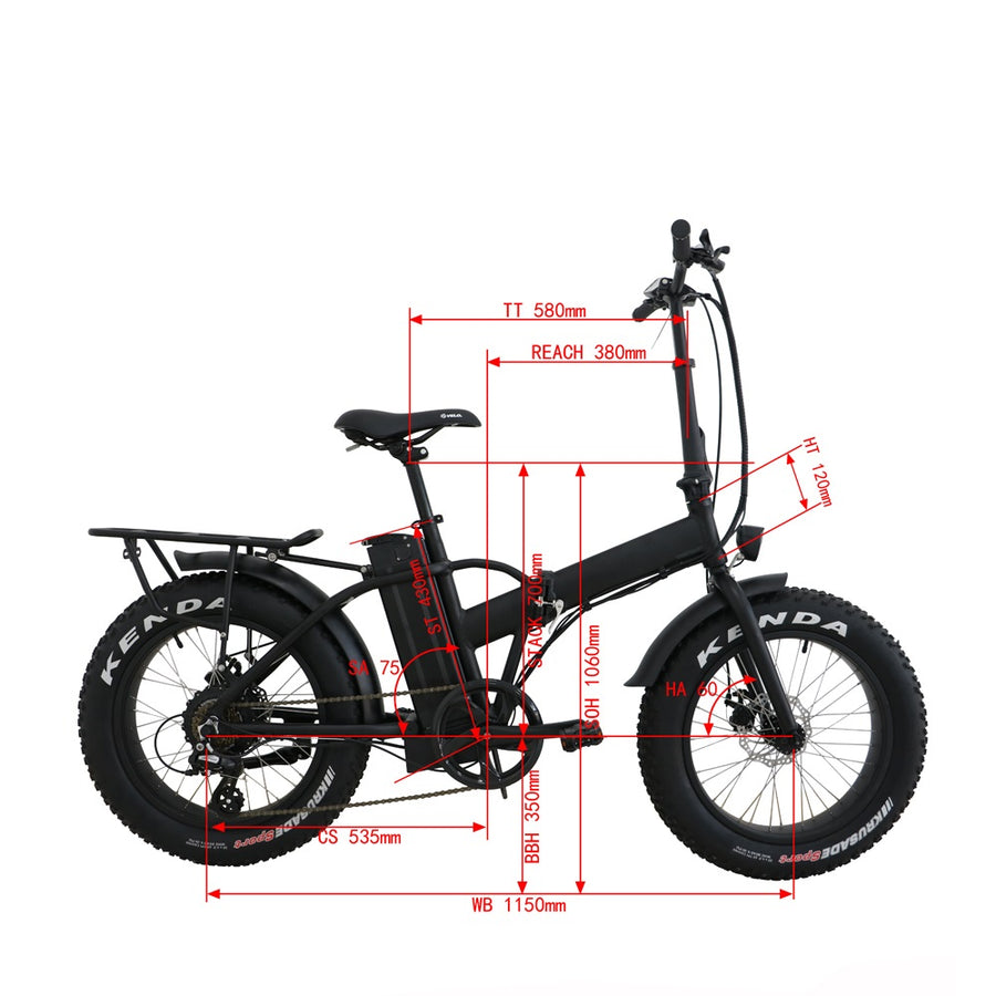 The Avenger - Fat Mini Folding Bike - Backorder Shipping August
