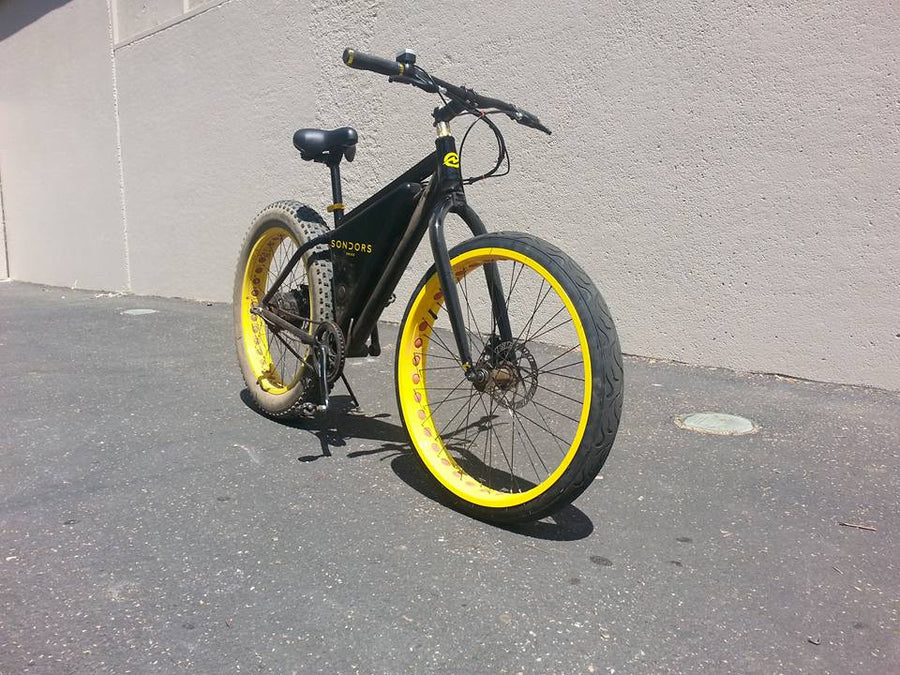 fat bike street tires on sondors storm ebike