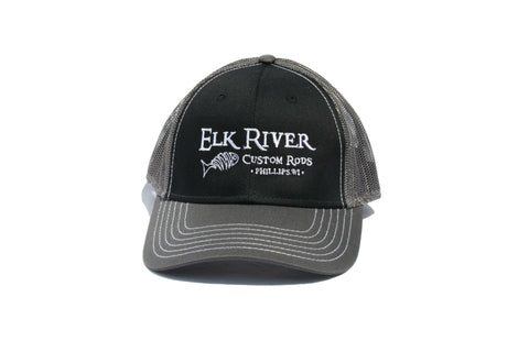 Elk River Custom Rods Mesh Back Black and Grey Hat