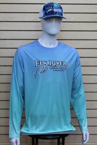Performance Long Sleeve Shirt Blue Mist/ Light Teal
