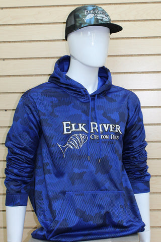 CamoHex Fleece Hooded Pullover True Royal