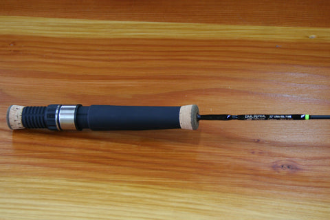 "32"" Solid Carbon Med-Lite Walleye/Whitefish Ice Rod"