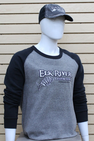 Lightweight Fleece Raglan Sweatshirt Eco-Grey/ Eco-Black
