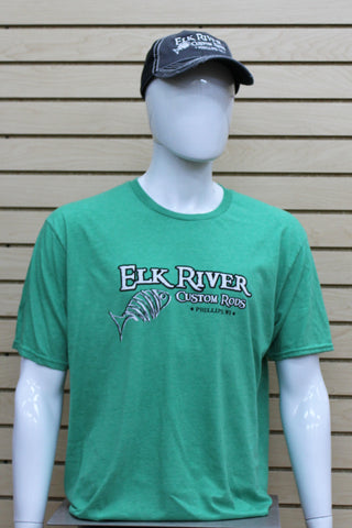 Short Sleeve Lightweight T-Shirt Heather Green