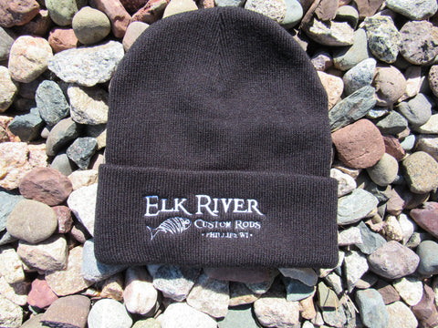 Elk River Custom Rods Black Knit Hat