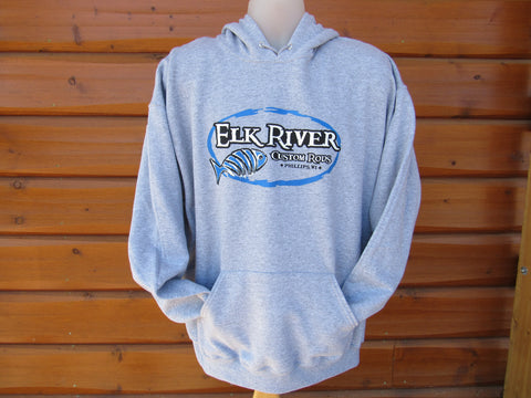 Elk River Custom Rods Unisex Pullover Hooded Sweatshirt Athletic Heather