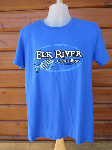 Elk River Custom Rods Short Sleeve Lightweight T-Shirt Royal Blue