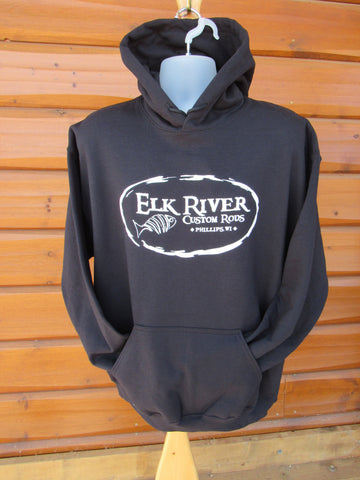Elk River Custom Rods Unisex Pullover Hooded Sweatshirt Black