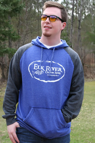 Elk River Custom Rods Lightweight Fleece Raglan Hoodie