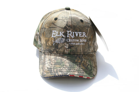Elk River Custom Rods American Flag Sandwich Camo Hat