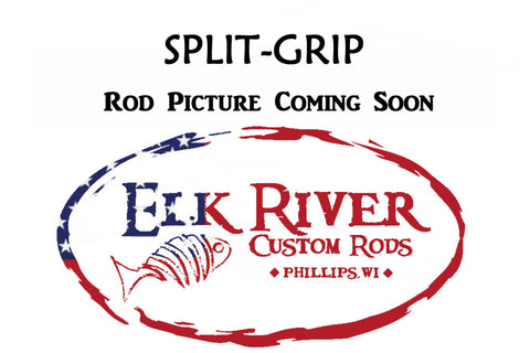 6'4'' Med-Lite Walleye & Smallmouth Patriot Spinning - Split-Grip Handle