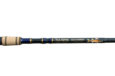 7'2'' Med-Lite Walleye Royal Blue Gold Spinning - Full Grip Handle Discontinued No Warranty