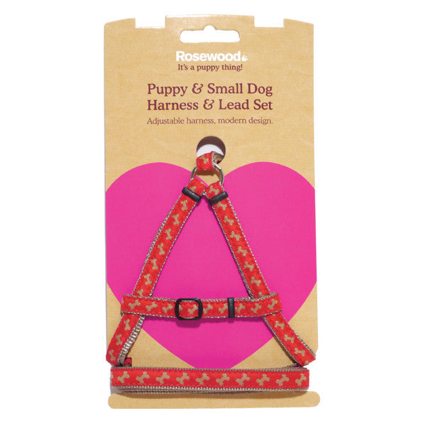 Puppy Harness & Lead Set,Puppy Harness,Rosewood,Animal World UK - Animal World UK