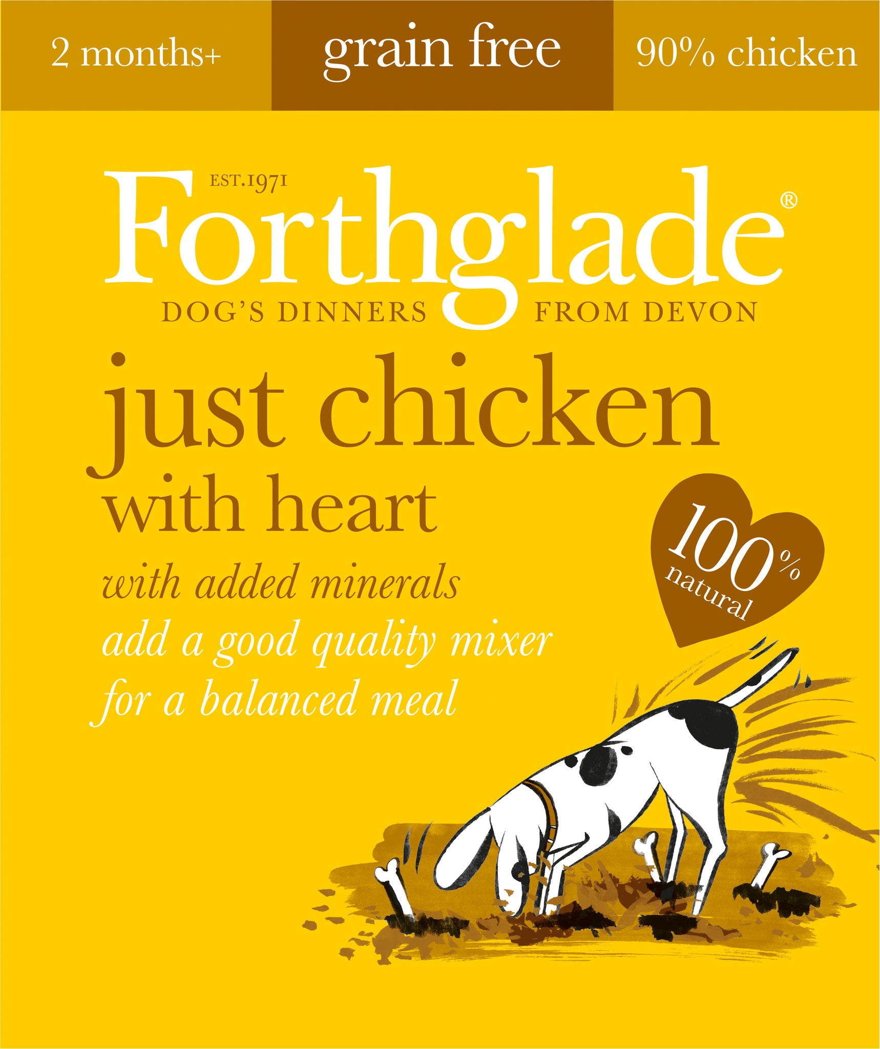 Forthglade Just Chicken with Heart Wet Dog Food,Wet Dog Food,Forthglade,Animal World UK - Animal World UK