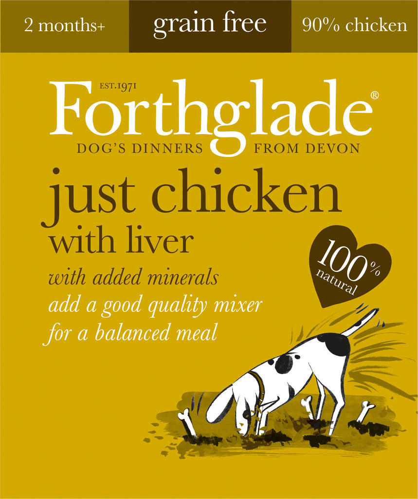 Forthglade Just Chicken with Liver Wet Dog Food