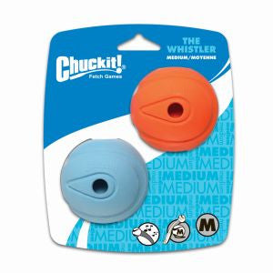 Chuckit The Whistler Ball 2 Pack Medium Dog Toys,Dog Toys,Chuckit,Animal World UK - Animal World UK