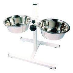 Adjustable Double Diner Dog Bowls,Dog Bowls,Rosewood,Animal World UK - Animal World UK